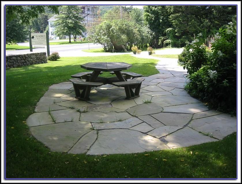 Flagstone And Brick Pavers Patio Designs