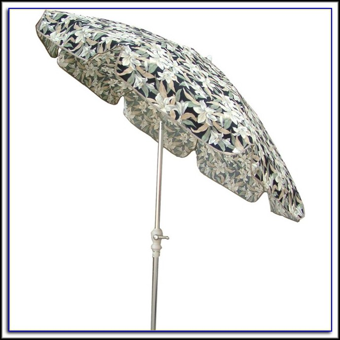Floral Pattern Patio Umbrellas