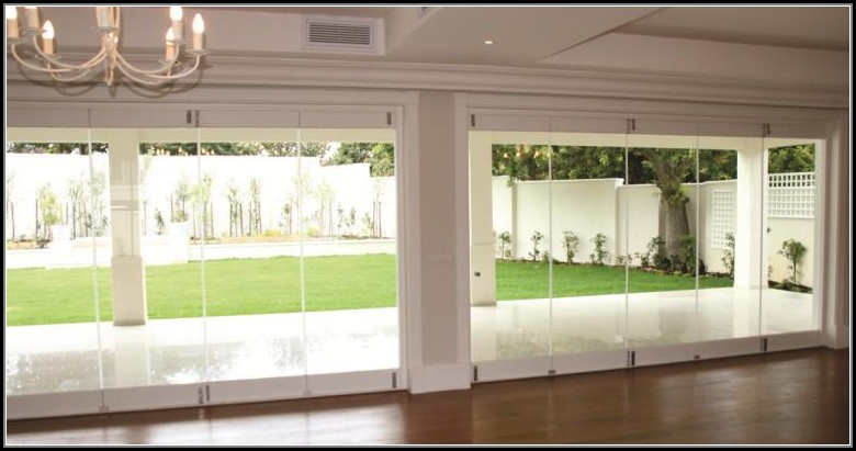 Frameless Folding Glass Patio Doors
