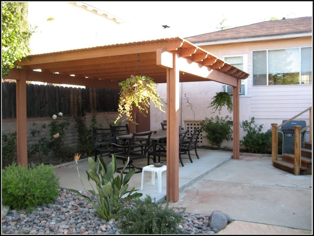 Free Standing Wood Patio Cover Designs