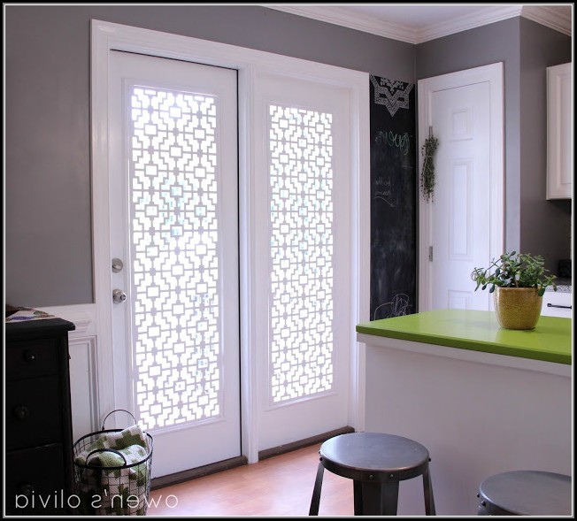 French Patio Door Window Treatment Ideas