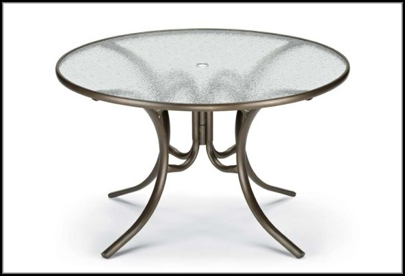 Glass Top Patio Tables Round