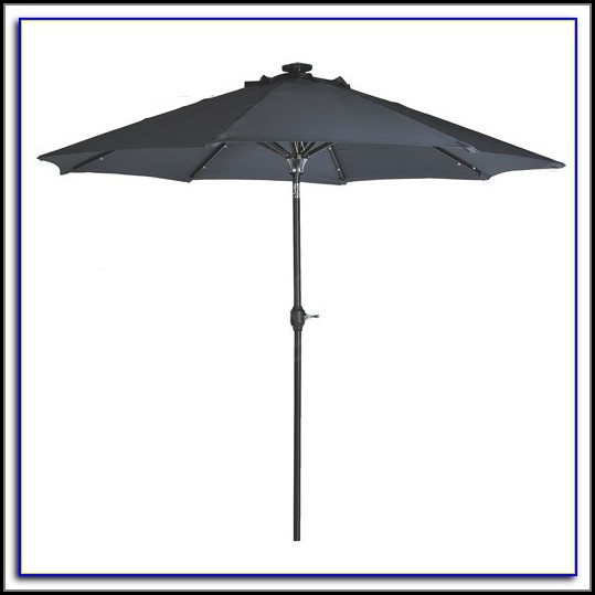 Grey Rectangular Patio Umbrella
