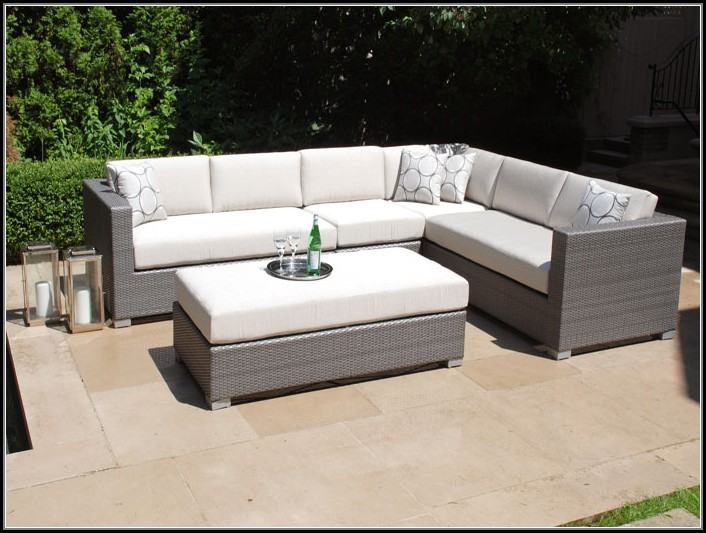 Grey Wicker Sectional Patio Furniture