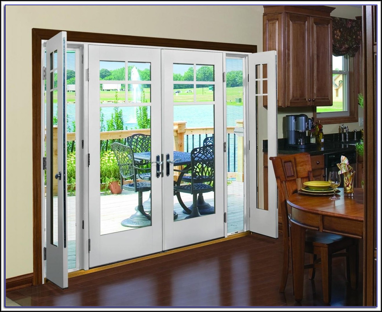 Hinged French Patio Doors With Screens