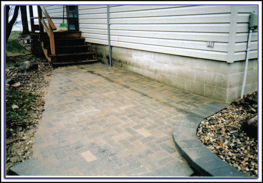 Install Patio Pavers On Sloping Yard
