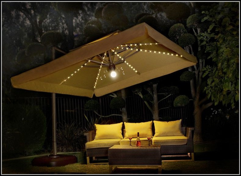 Large Patio Umbrellas With Lights