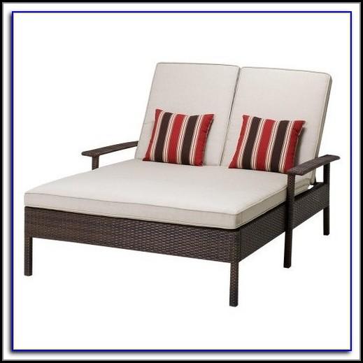 Madaga Wicker Patio Double Chaise Lounge