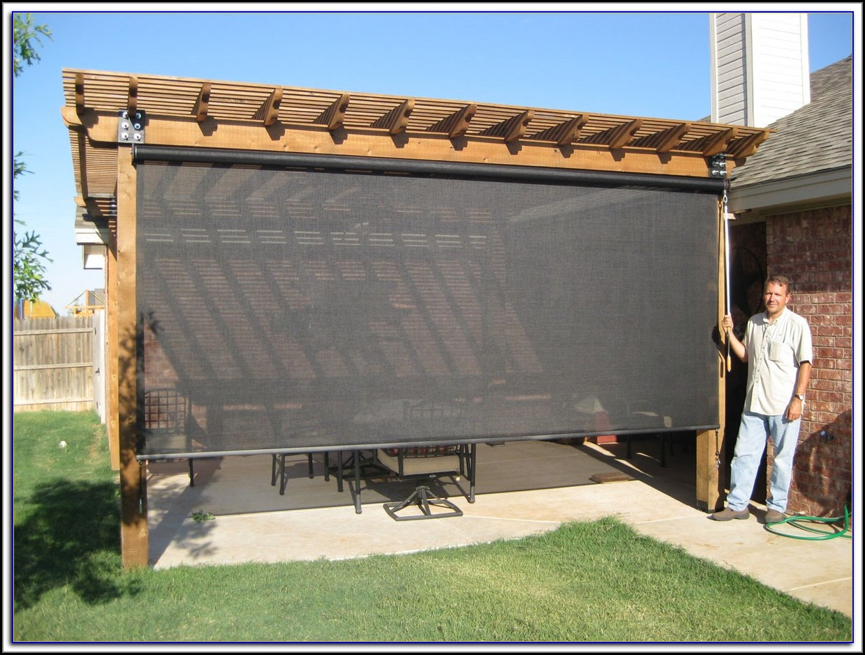 Malibu Roll Up Patio Blinds