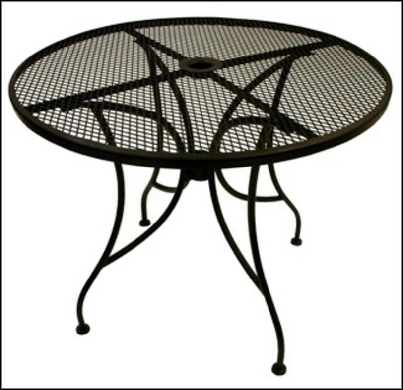 Metal Patio Table With Umbrella