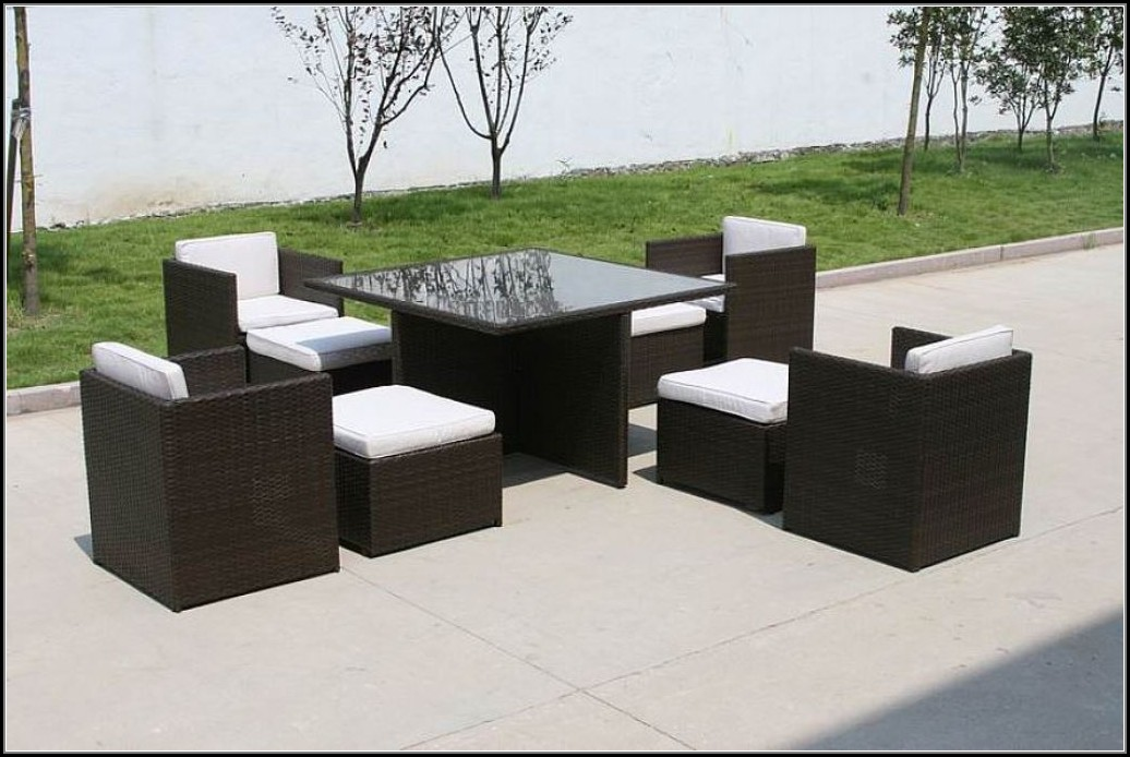 Modern Black Wicker Outdoor Furniture