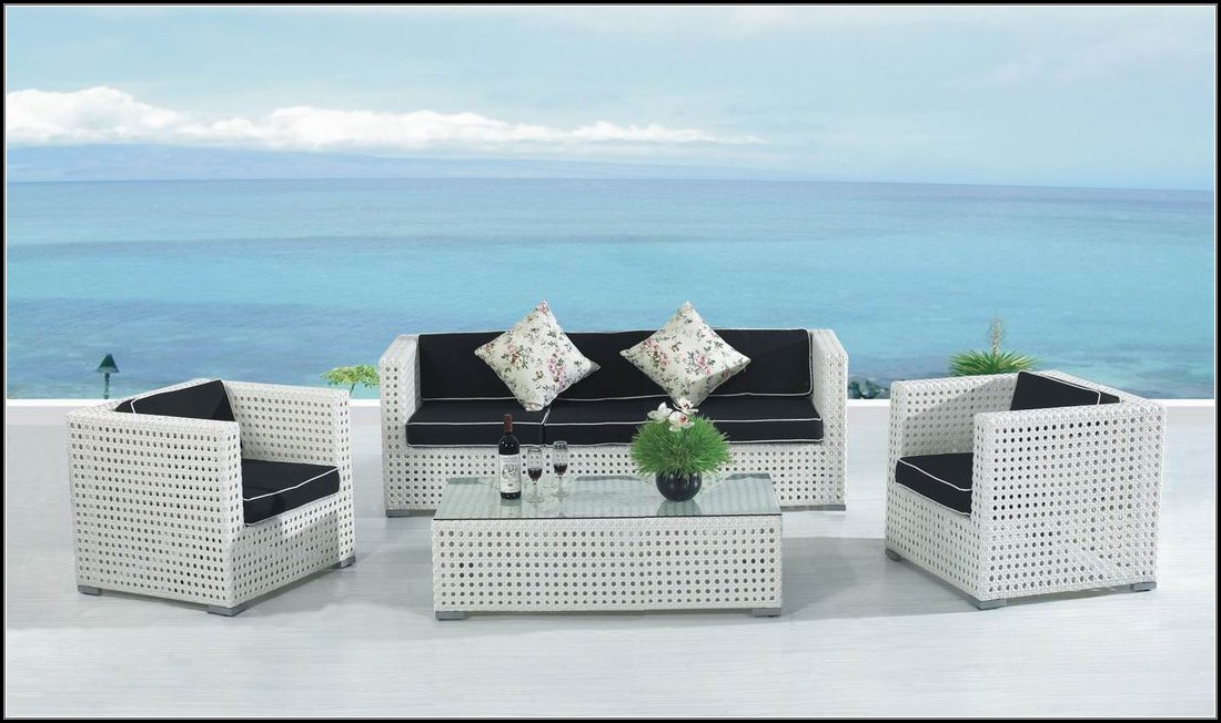 Modern White Wicker Patio Furniture