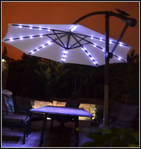 Offset Patio Umbrella Solar Lights