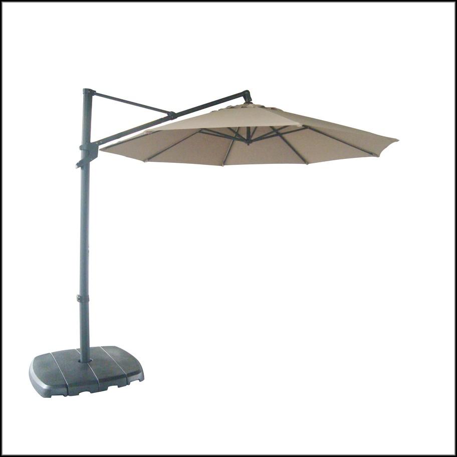 Offset Patio Umbrella With Base
