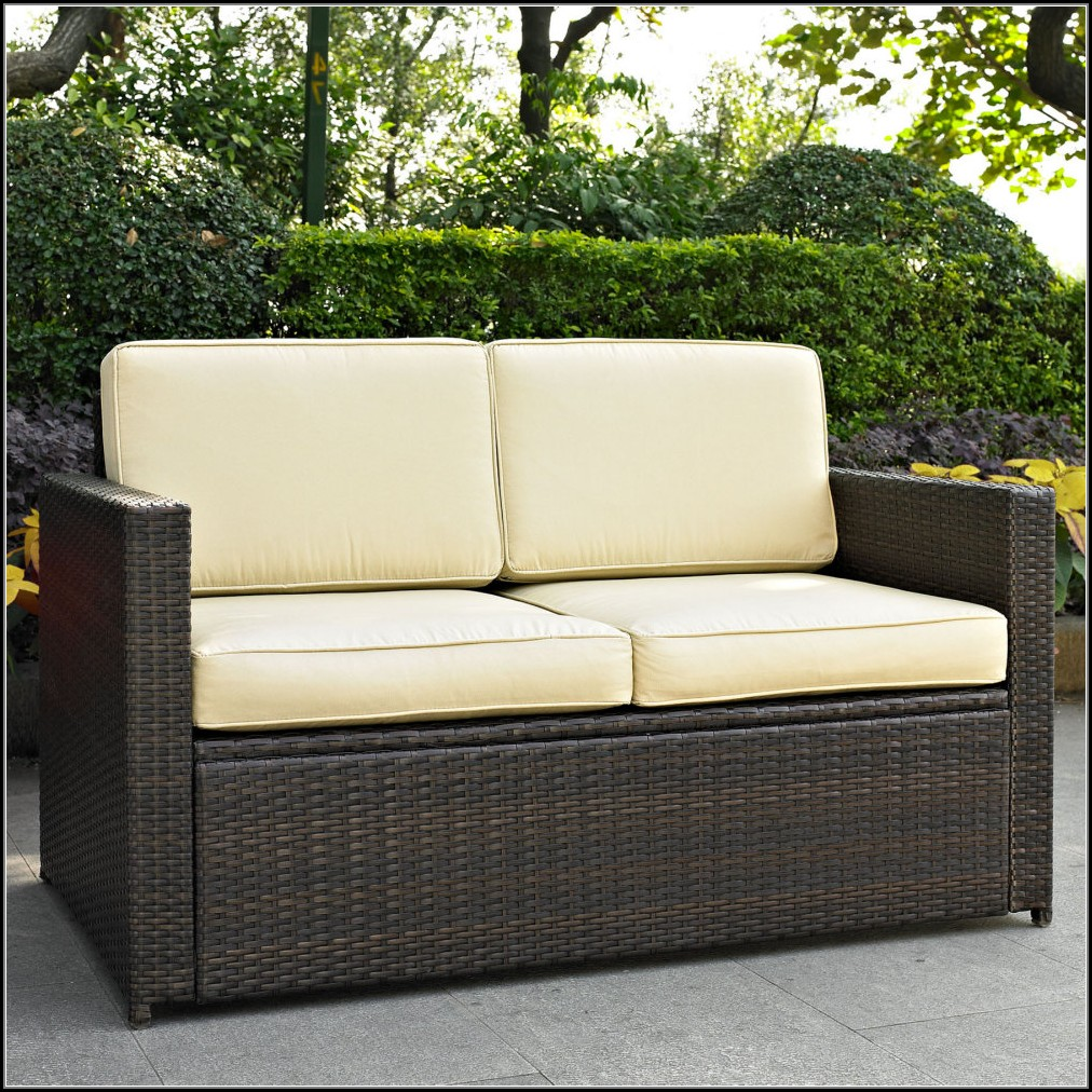 Outdoor Patio Wicker Loveseat