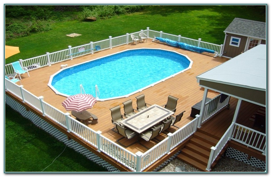 Oval Above Ground Pools With Deck