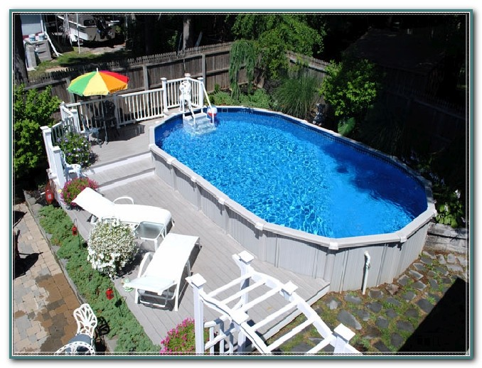 Oval Pool Deck Ideas
