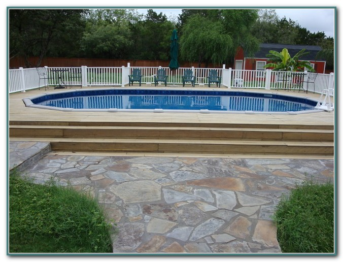Oval Pool With Deck