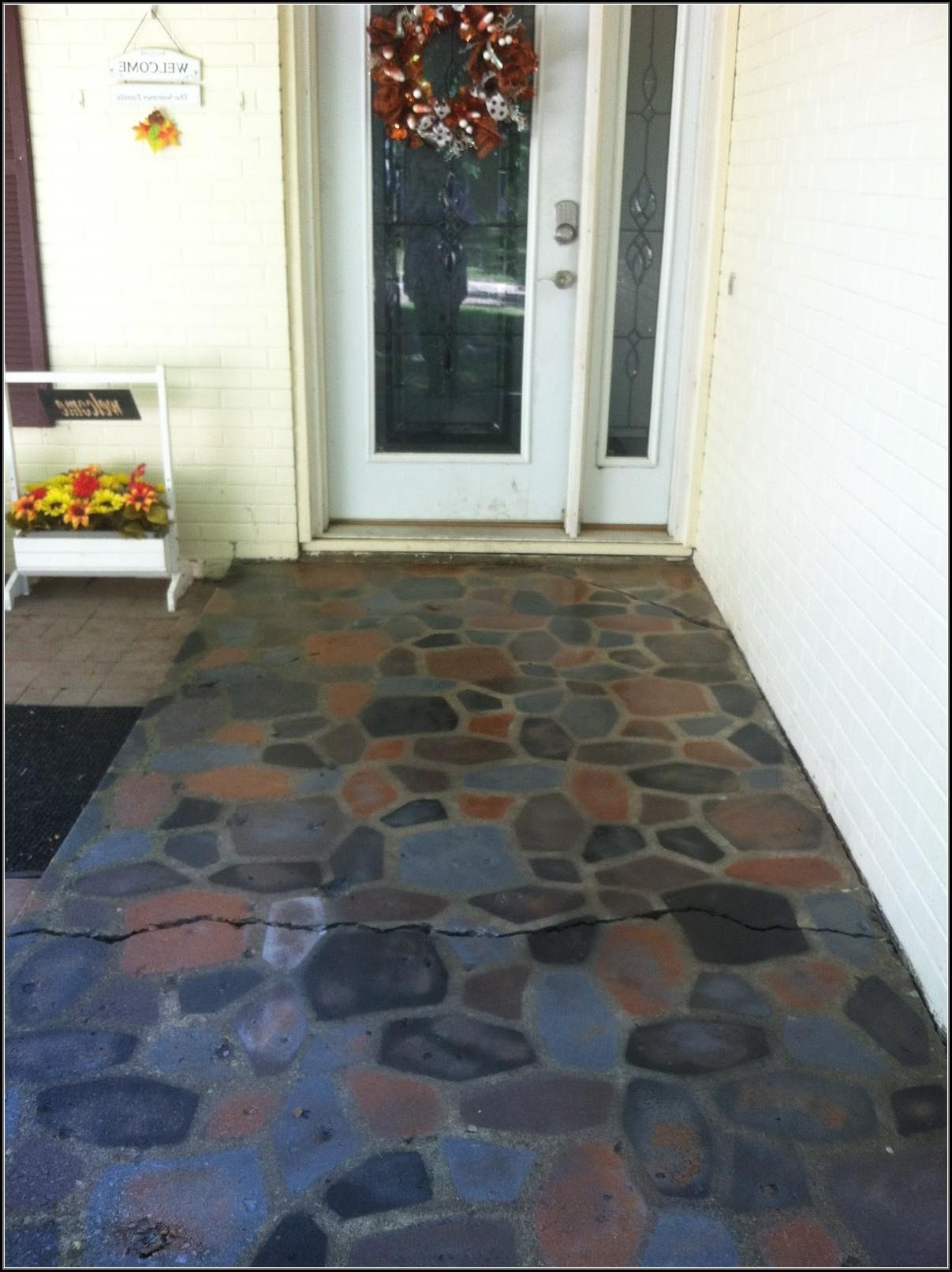 Painting Concrete Patio Stones