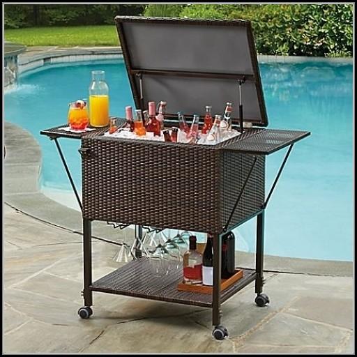 Patio Beverage Cooler Cart