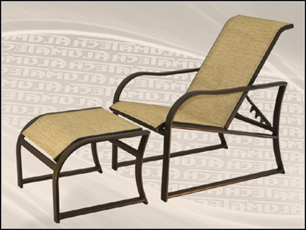 Patio Chair With Ottoman