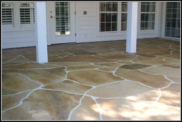 Patio Concrete Stain Ideas
