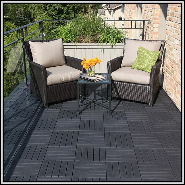 Patio Deck Tiles Recycled Rubber