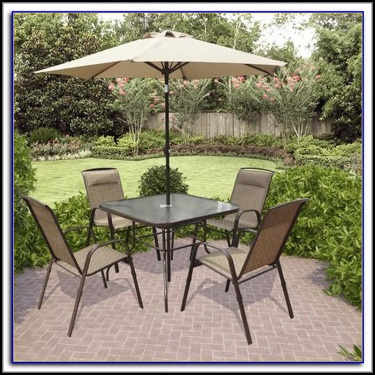 Patio Dining Set With Umbrella Seats 4