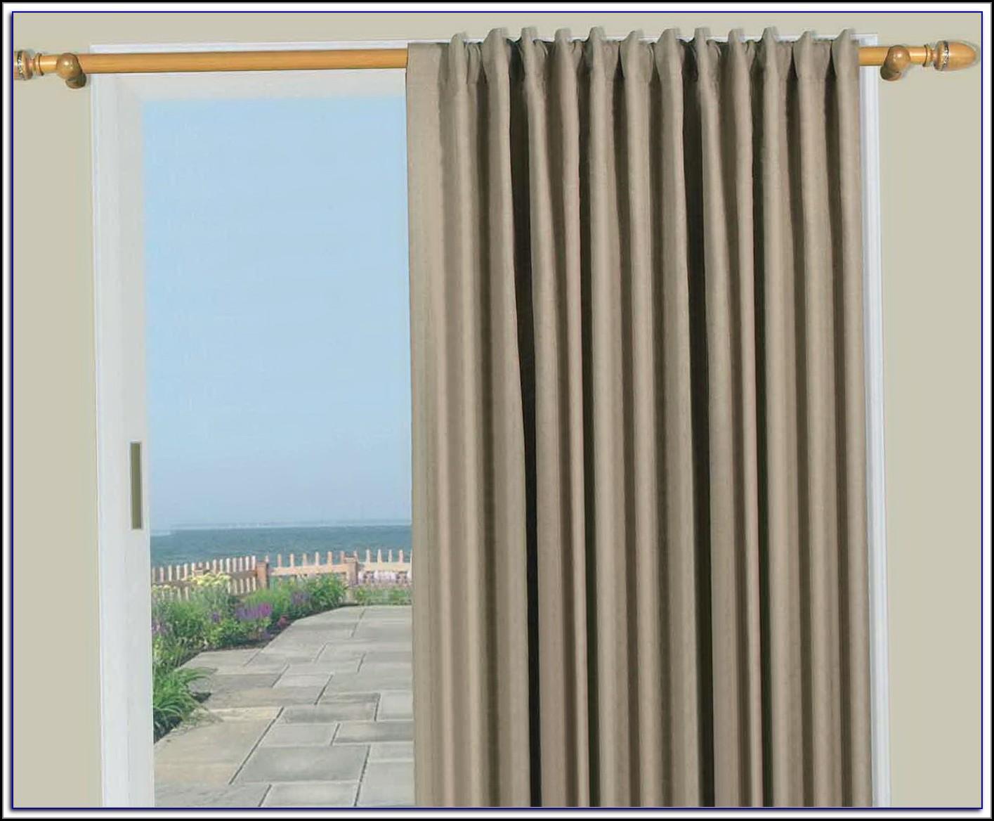 Patio Door Curtain Rods Without Center Bracket