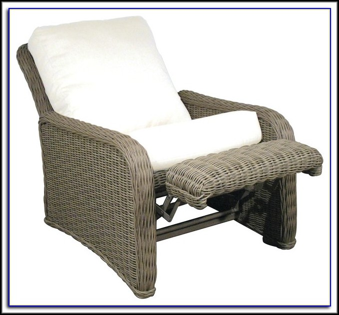 Patio Recliner Chair Ottoman