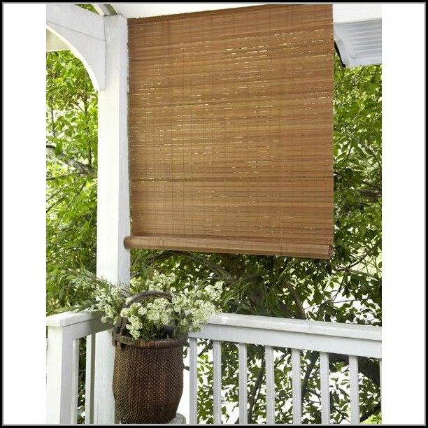 Patio Roll Up Shades Bamboo