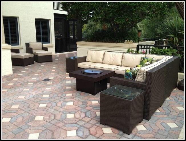 Patio Set With Gas Fire Pit Table