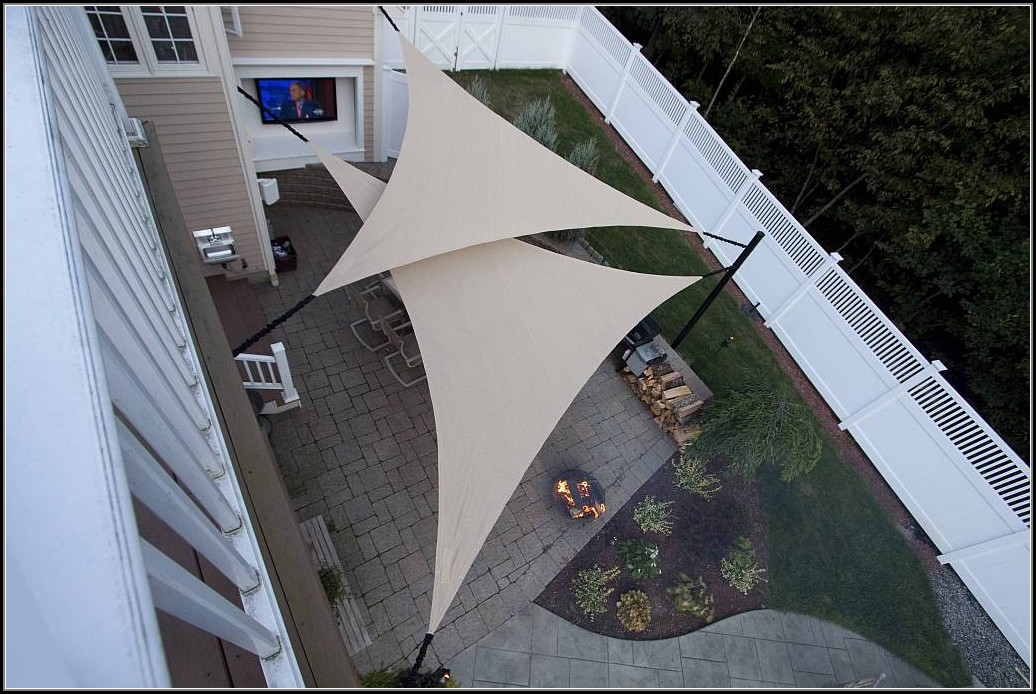 Patio Shade Sail Installation