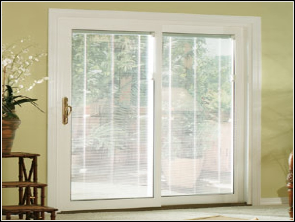 Patio Sliding Doors With Blinds