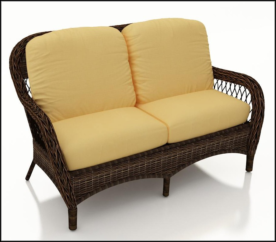Patio Wicker Loveseat Cushions