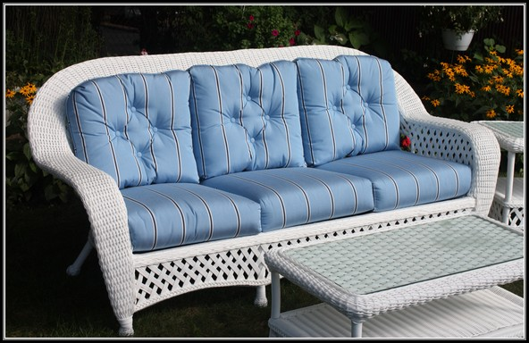 Patio Wicker Sofa Cushions