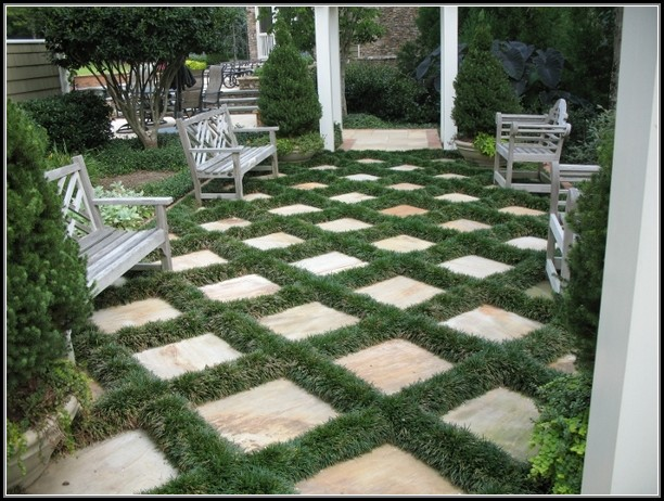 Paver Patio Designs With Grass