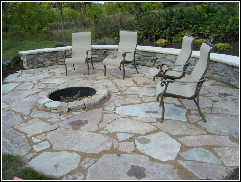 Paver Stone Patio With Fire Pit