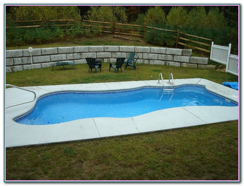 Pictures Of Inground Pools With Retaining Walls