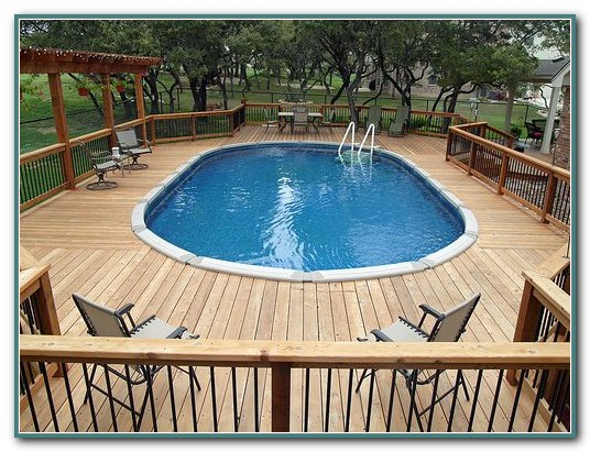 Pictures Of Oval Above Ground Pool Decks