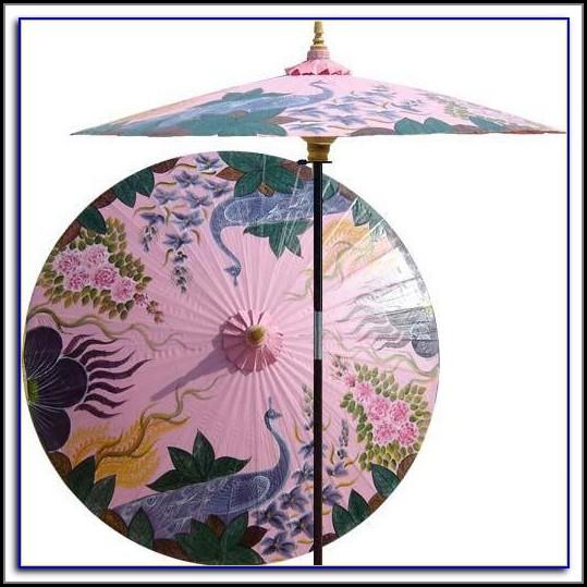Pink Flamingo Patio Umbrella