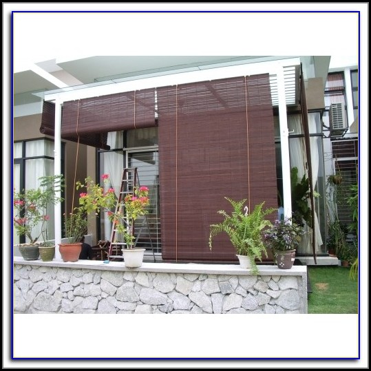 Plastic Bamboo Patio Blinds