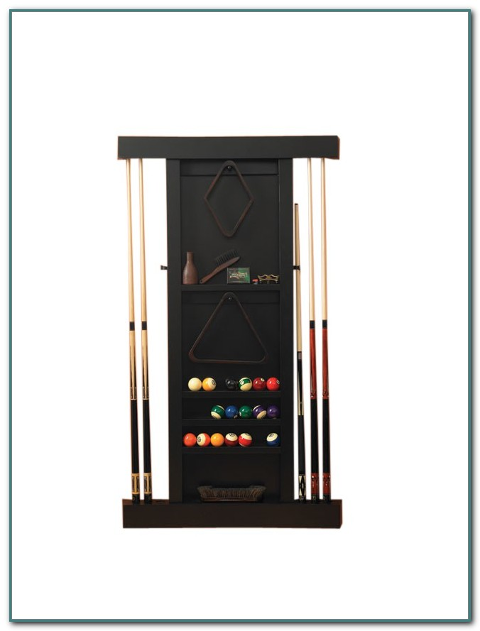 Pool Cue Wall Rack Black