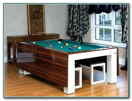 Pool Table Converts To Dining Table