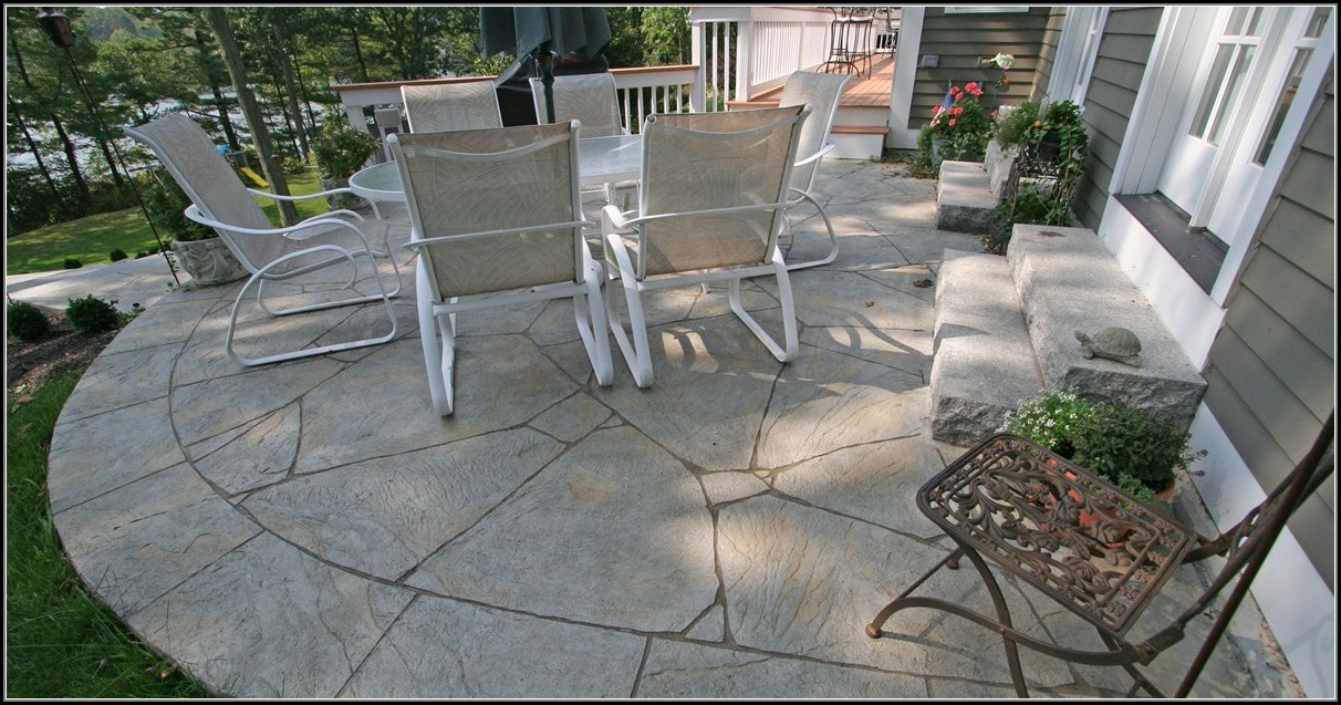 Poured Concrete Patio Ideas