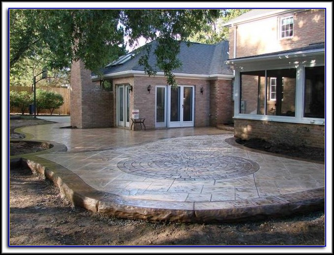 Poured Concrete Patio Or Pavers