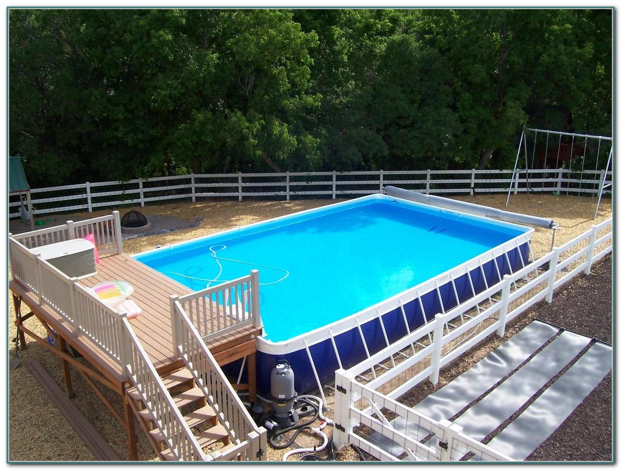 Rectangle Above Ground Pool Kits