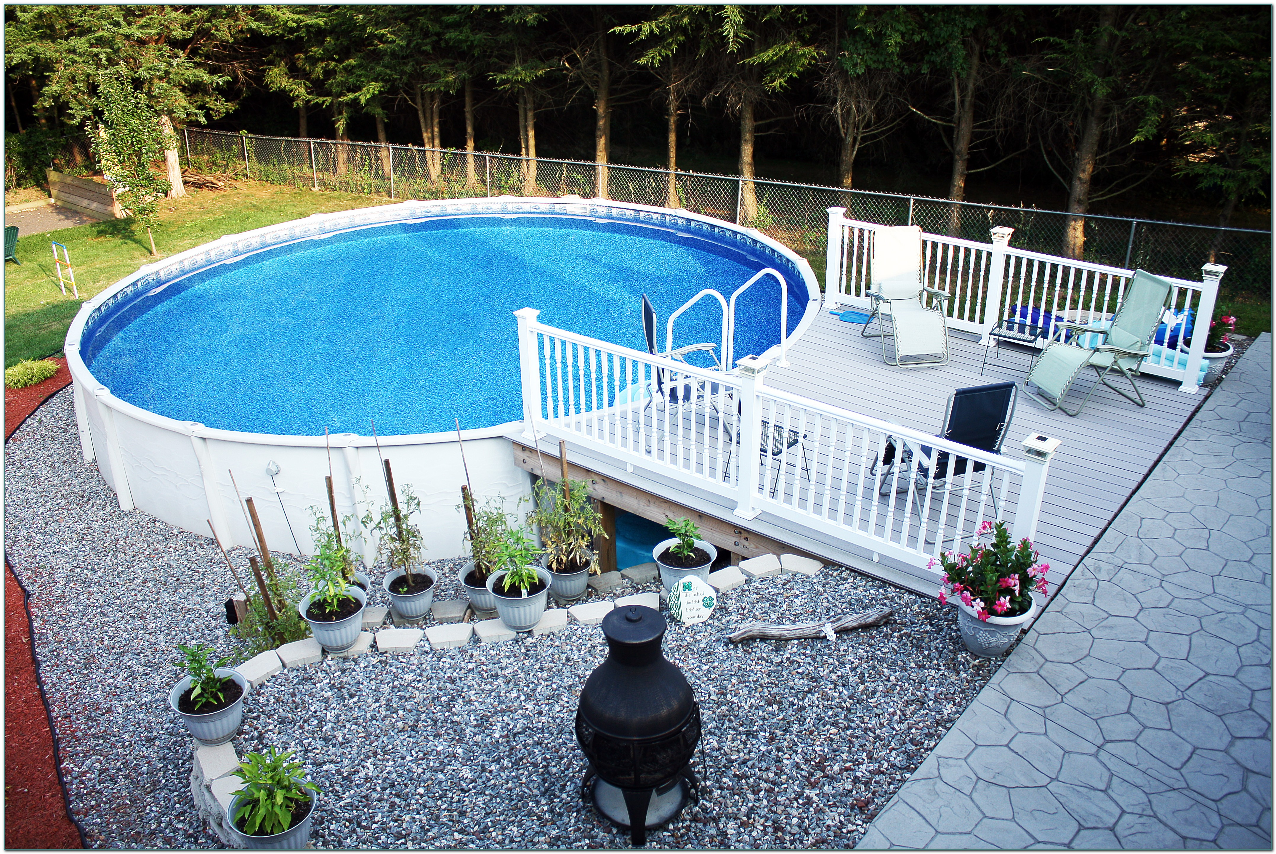 Resin Above Ground Pool Decks
