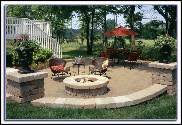 Rock Patios With Fire Pits