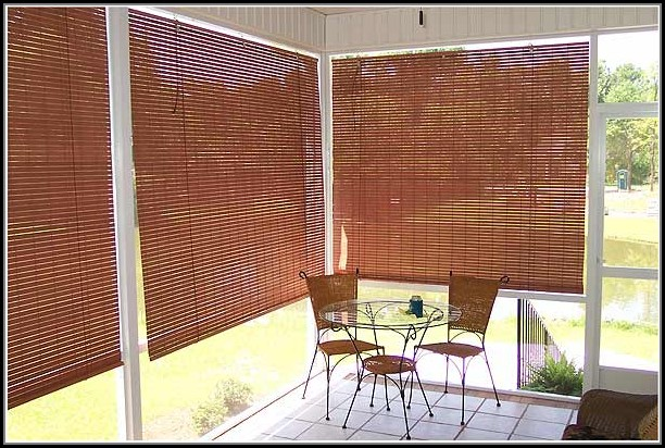 Roll Up Porch Shades Blinds